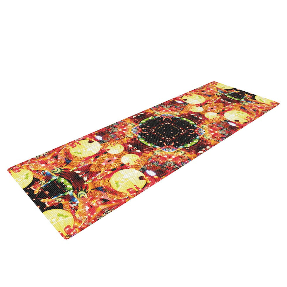 "Danii Pollehn ""China"" Gold Red Yoga Mat - KESS InHouse  - 1"