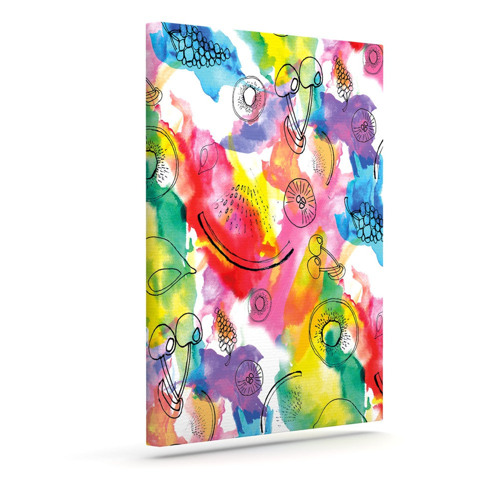 "Danii Pollehn ""Fruits"" Rainbow Canvas Art - KESS InHouse  - 1"