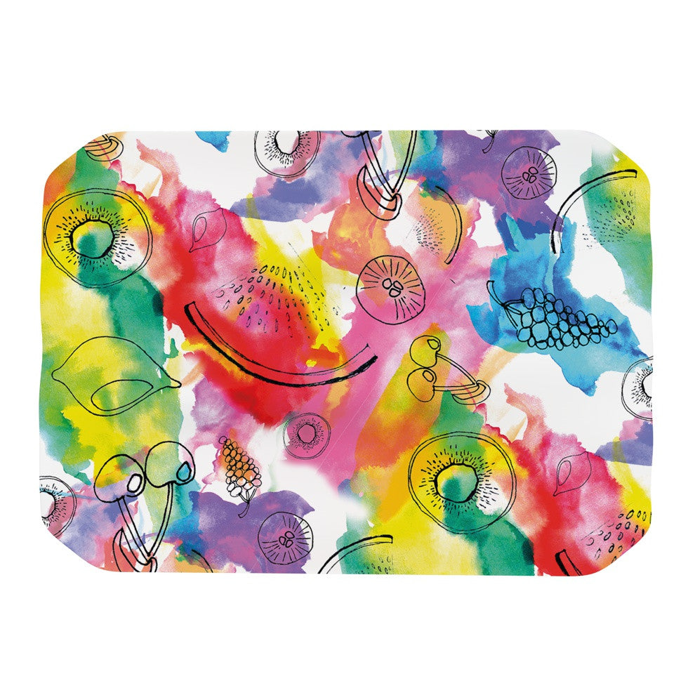 "Danii Pollehn ""Fruits"" Rainbow Place Mat - KESS InHouse"