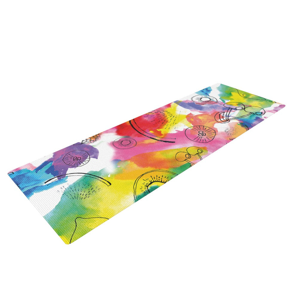 "Danii Pollehn ""Fruits"" Rainbow Yoga Mat - KESS InHouse  - 1"