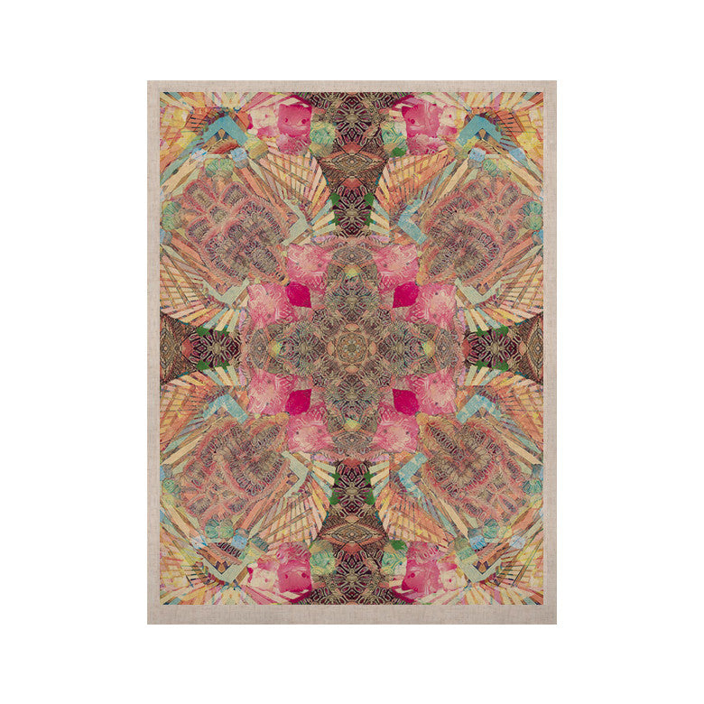 "Danii Pollehn ""Indian Clash"" Pink Multicolor KESS Naturals Canvas (Frame not Included) - KESS InHouse  - 1"