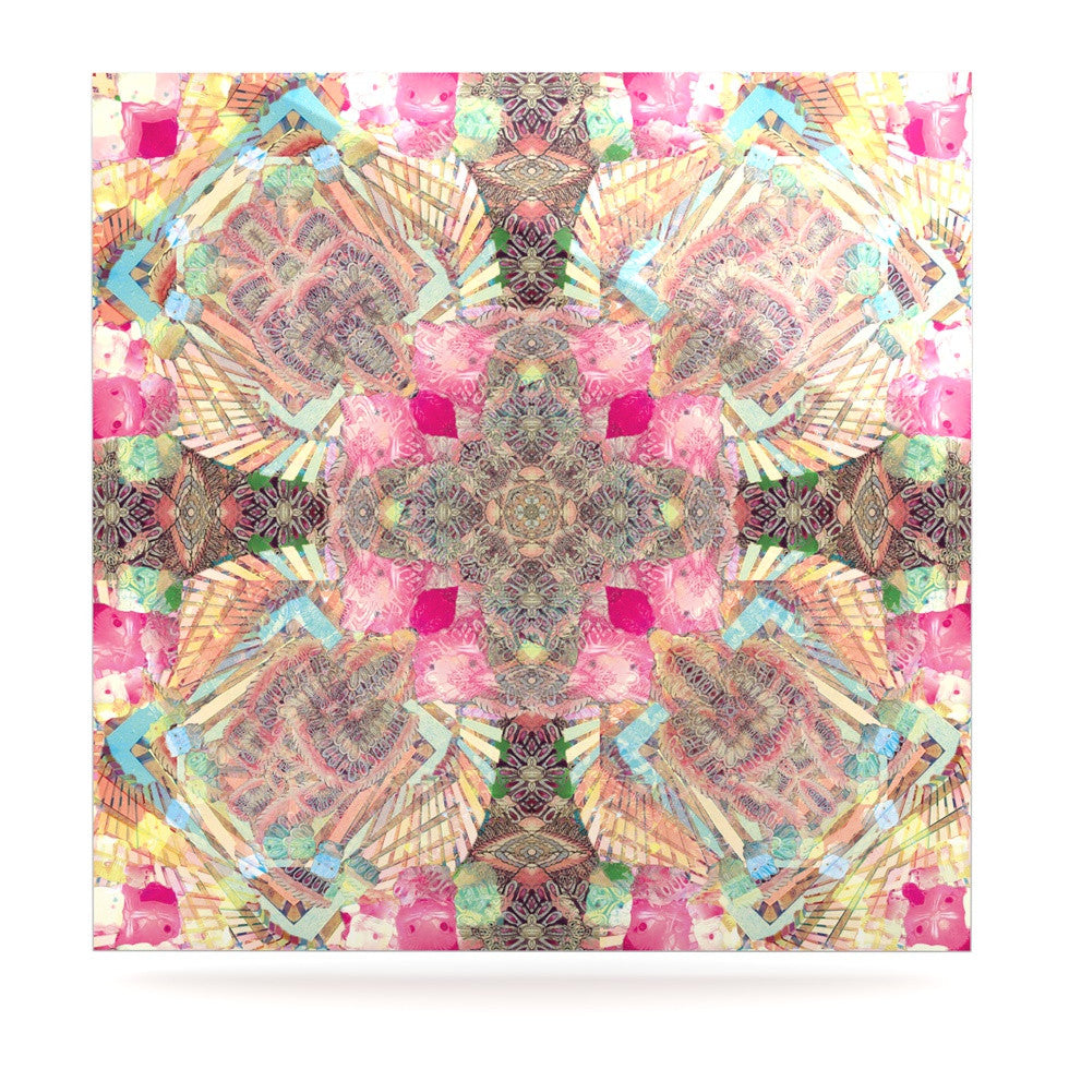 "Danii Pollehn ""Indian Clash"" Pink Multicolor Luxe Square Panel - KESS InHouse  - 1"