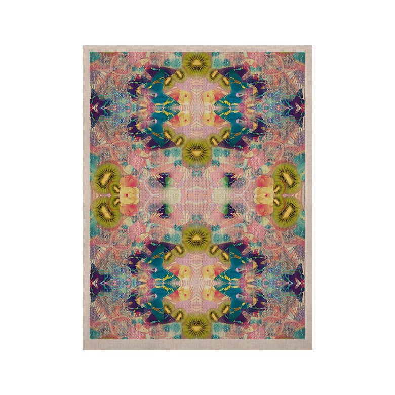 "Danii Pollehn ""LSD"" Pink Green KESS Naturals Canvas (Frame not Included) - KESS InHouse  - 1"