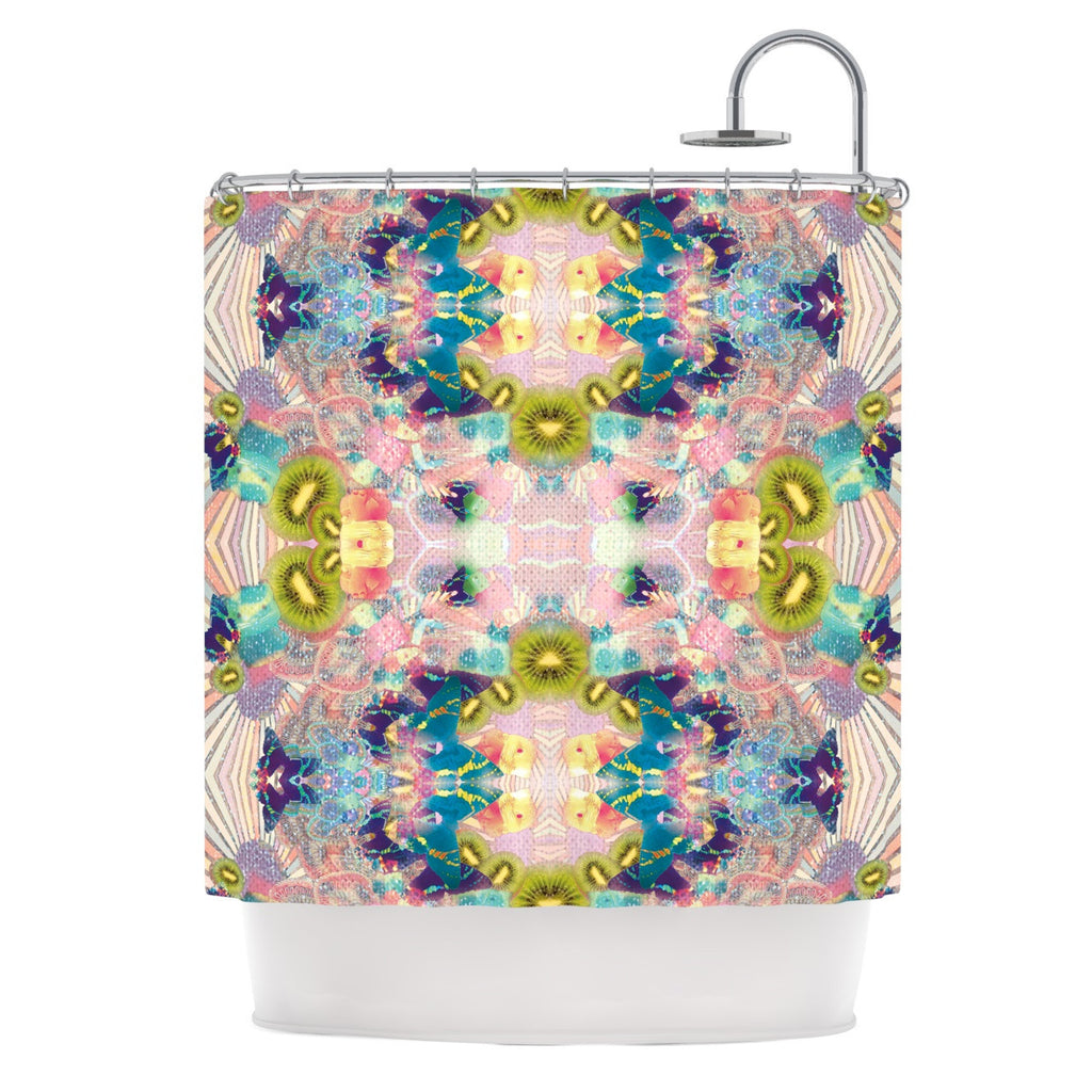 "Danii Pollehn ""LSD"" Pink Green Shower Curtain - KESS InHouse"
