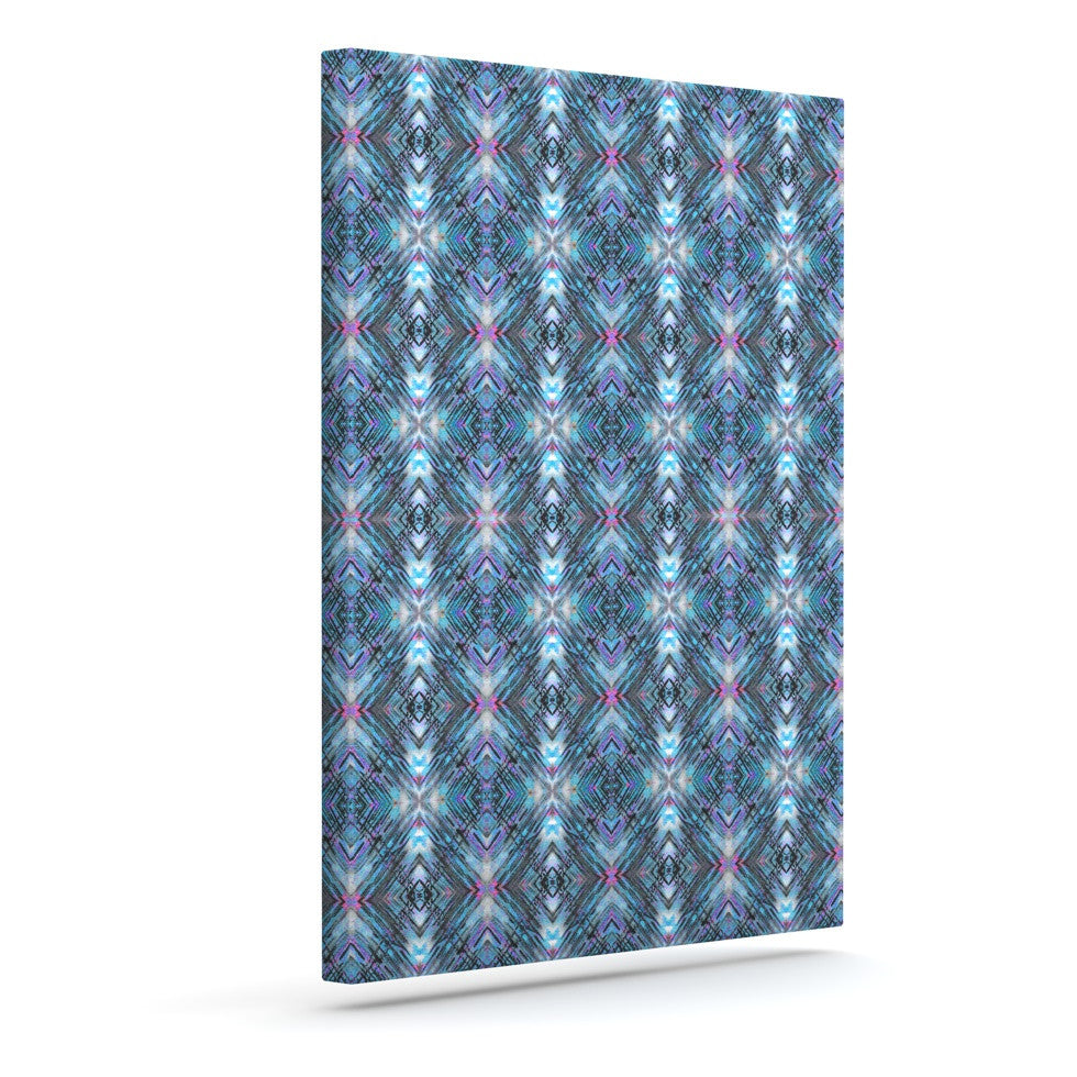 "Danii Pollehn ""Native Pattern"" Blue Geometric Canvas Art - KESS InHouse  - 1"