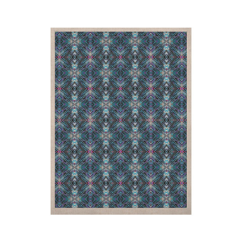 "Danii Pollehn ""Native Pattern"" Blue Geometric KESS Naturals Canvas (Frame not Included) - KESS InHouse  - 1"