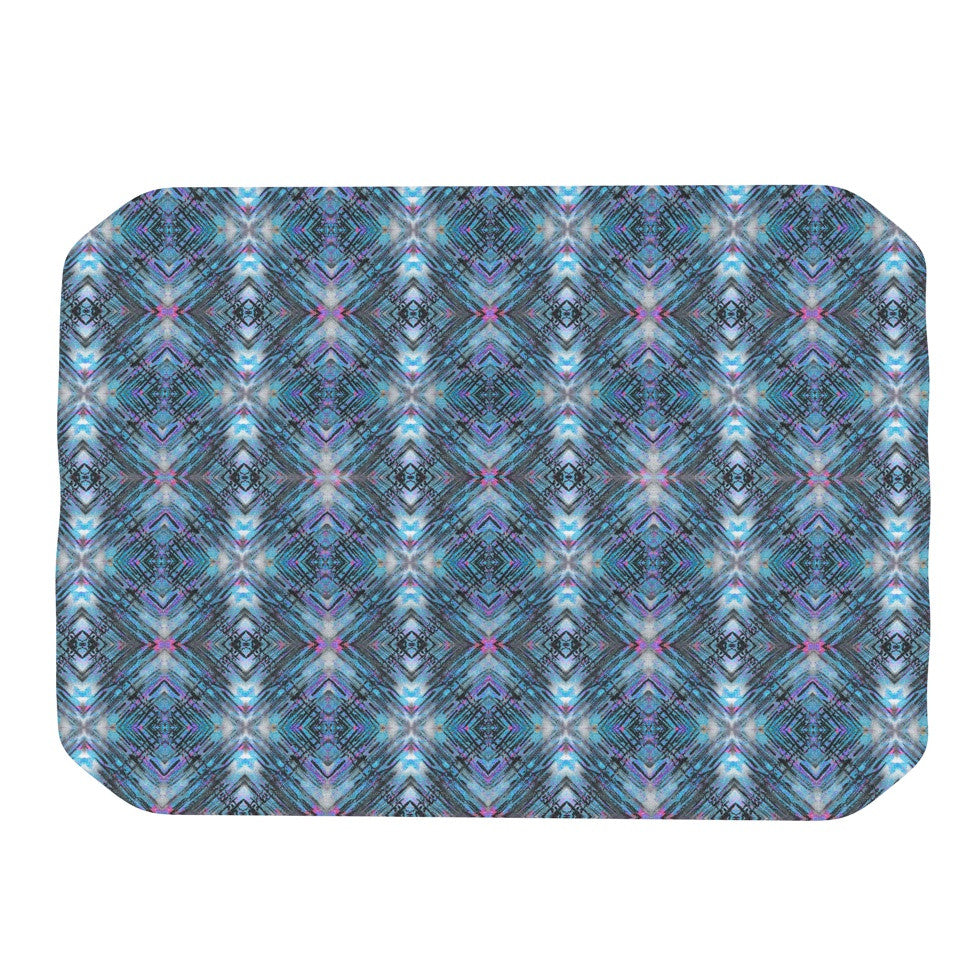 "Danii Pollehn ""Native Pattern"" Blue Geometric Place Mat - KESS InHouse"