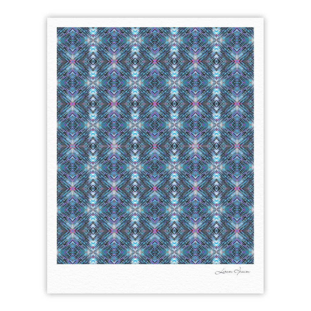 "Danii Pollehn ""Native Pattern"" Blue Geometric Fine Art Gallery Print - KESS InHouse"
