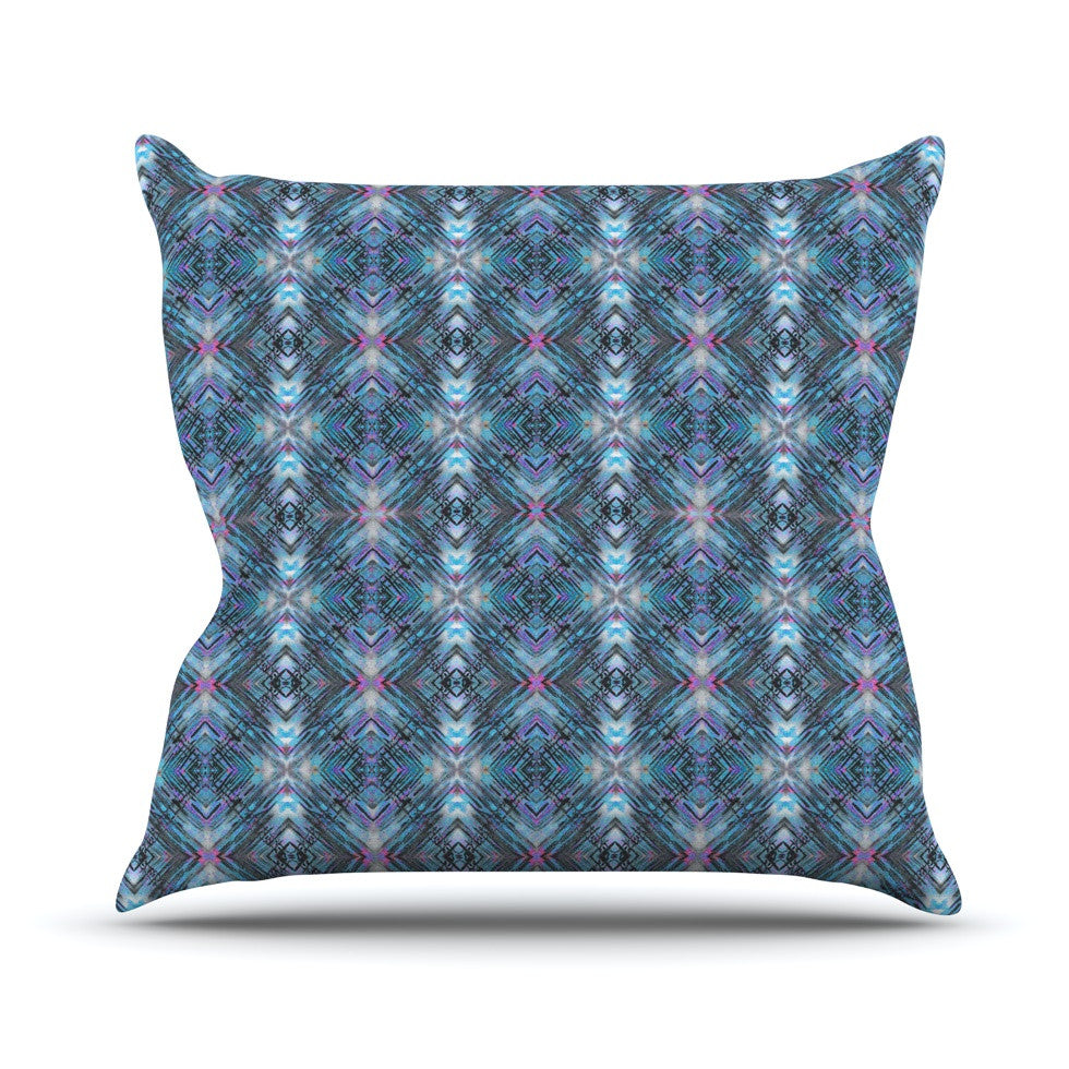 "Danii Pollehn ""Native Pattern"" Blue Geometric Throw Pillow - KESS InHouse  - 1"