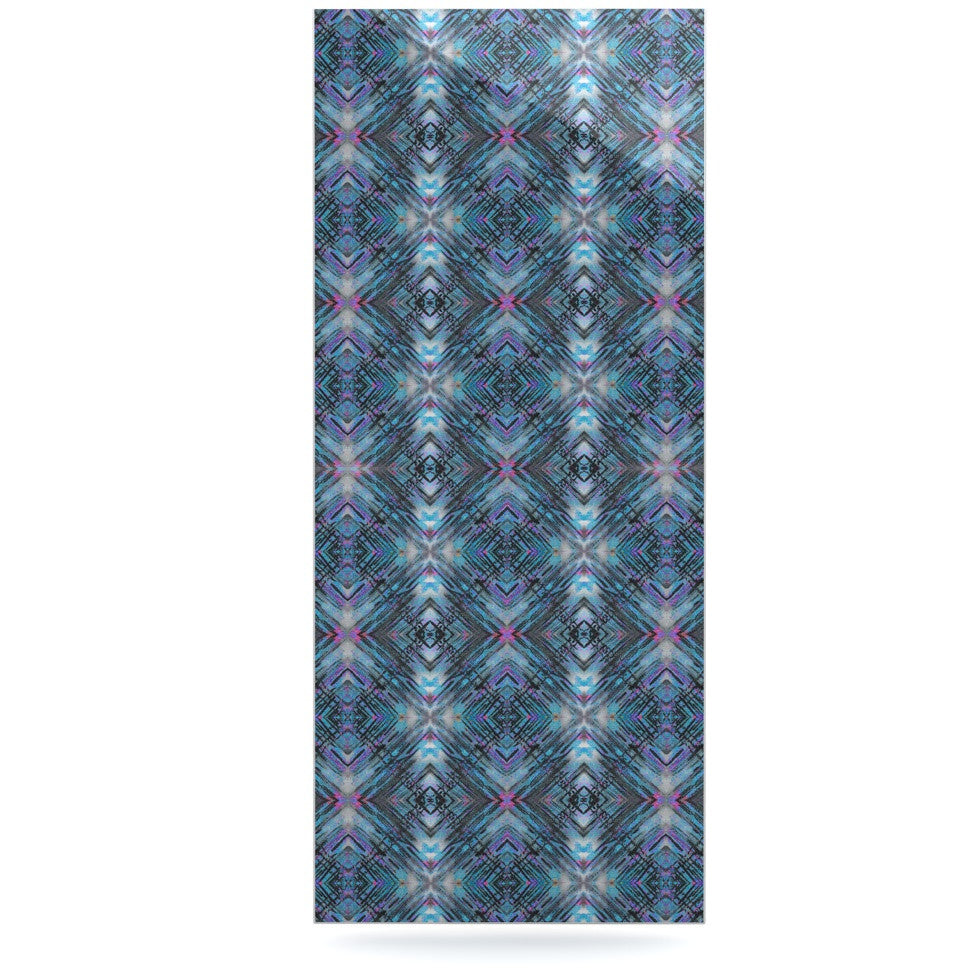 "Danii Pollehn ""Native Pattern"" Blue Geometric Luxe Rectangle Panel - KESS InHouse  - 1"