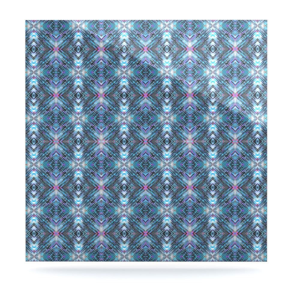 "Danii Pollehn ""Native Pattern"" Blue Geometric Luxe Square Panel - KESS InHouse  - 1"
