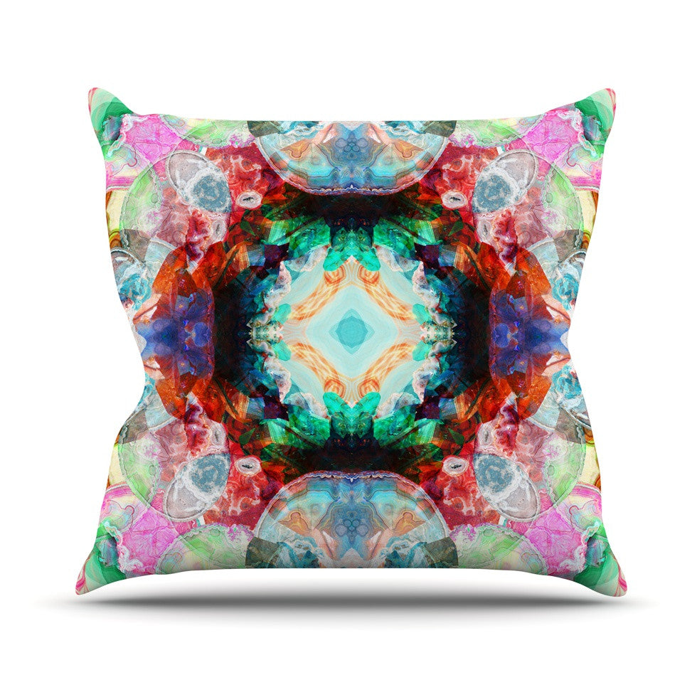 "Danii Pollehn ""Achat II"" Multicolor Outdoor Throw Pillow - KESS InHouse  - 1"