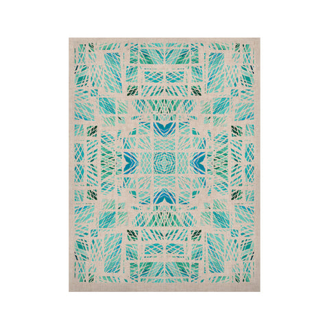 "Danii Pollehn ""Scandanavian Square"" Blue Teal KESS Naturals Canvas (Frame not Included) - KESS InHouse  - 1"