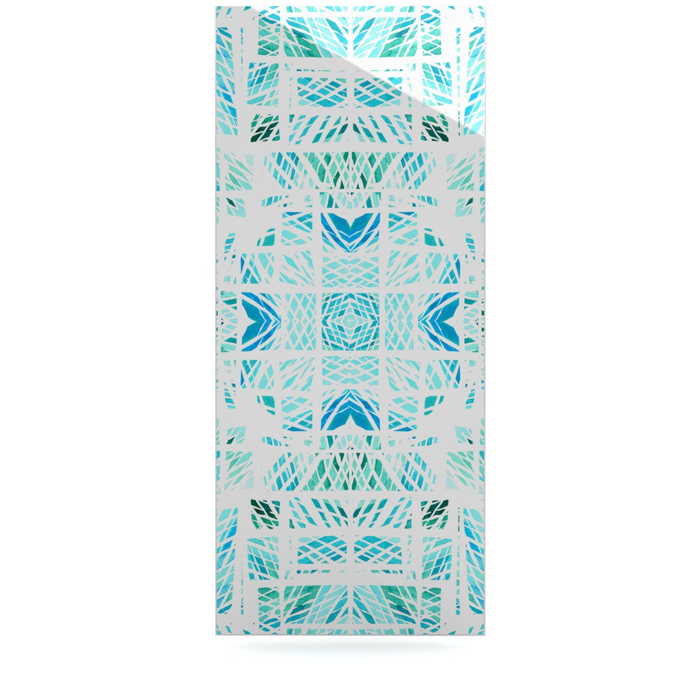 "Danii Pollehn ""Scandanavian Square"" Blue Teal Luxe Rectangle Panel - KESS InHouse  - 1"