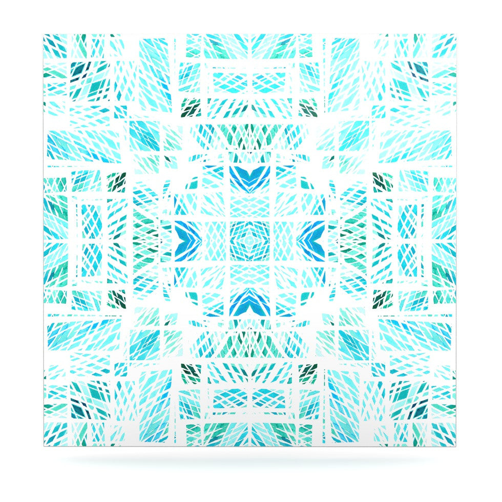 "Danii Pollehn ""Scandanavian Square"" Blue Teal Luxe Square Panel - KESS InHouse  - 1"