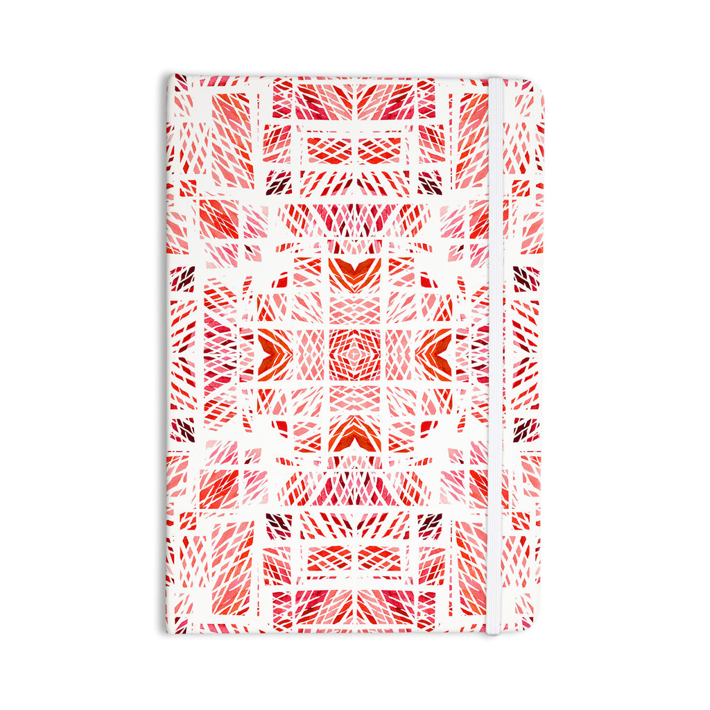 "Danii Pollehn ""Scandanavian Square Pink"" Red Everything Notebook - KESS InHouse  - 1"
