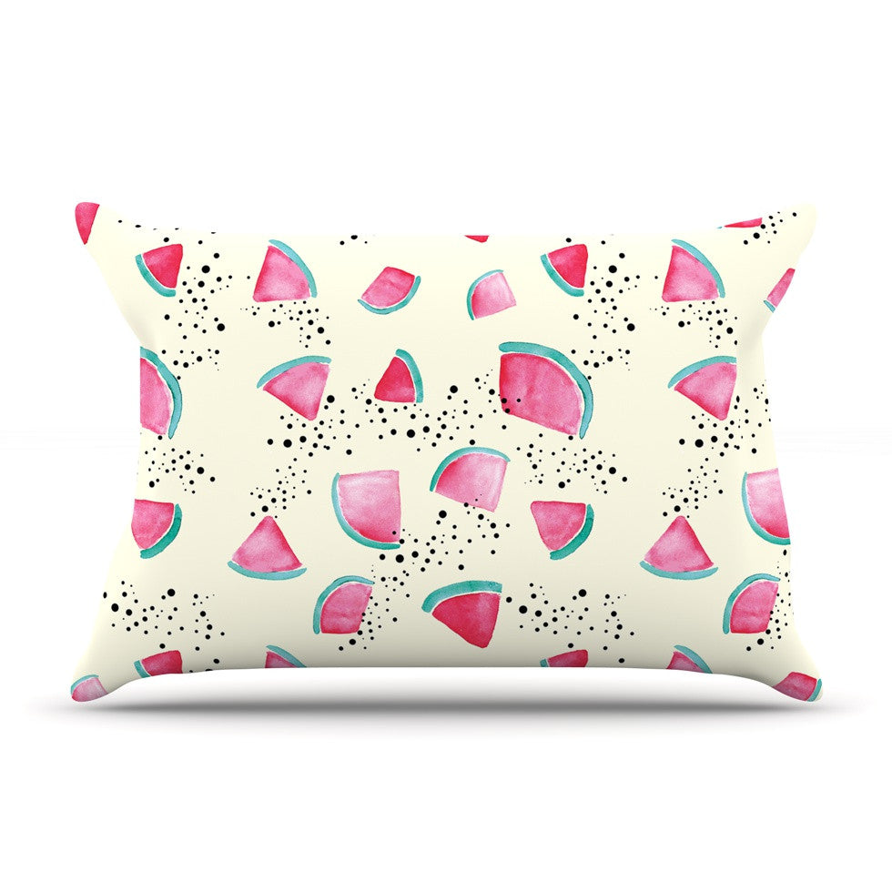 "Danii Pollehn ""Watermelon"" Food Pillow Sham - KESS InHouse"