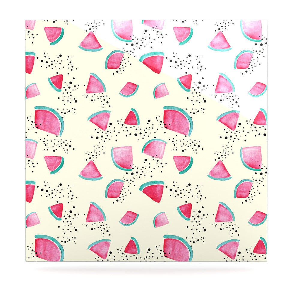 "Danii Pollehn ""Watermelon"" Food Luxe Square Panel - KESS InHouse  - 1"