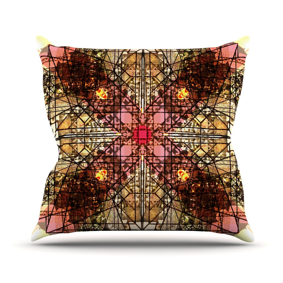 "Danii Pollehn ""Viereck"" Geometric Outdoor Throw Pillow - KESS InHouse  - 1"