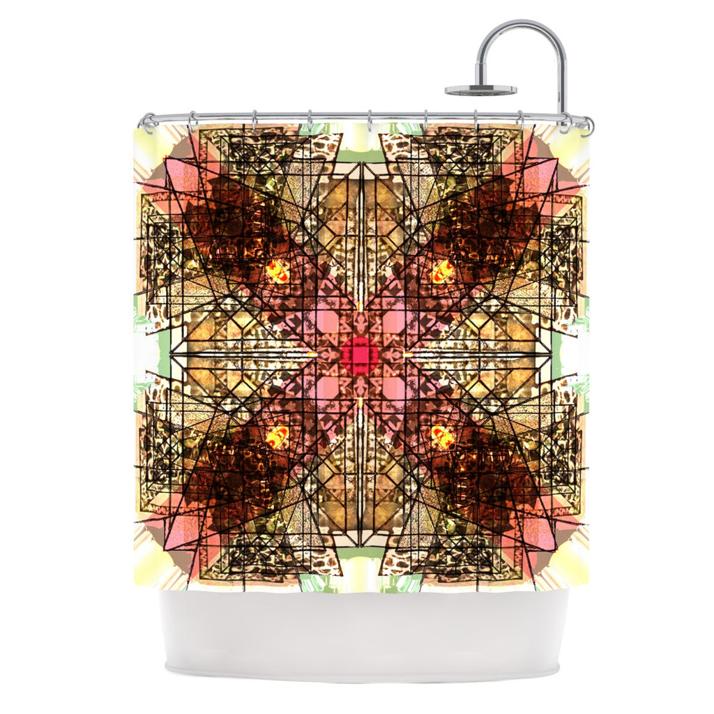 "Danii Pollehn ""Viereck"" Geometric Shower Curtain - KESS InHouse"