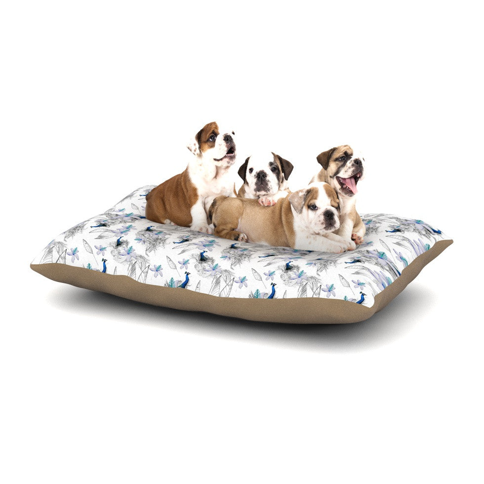 "Danii Pollehn ""Peacock Fun"" Animal Pattern Dog Bed - KESS InHouse  - 1"