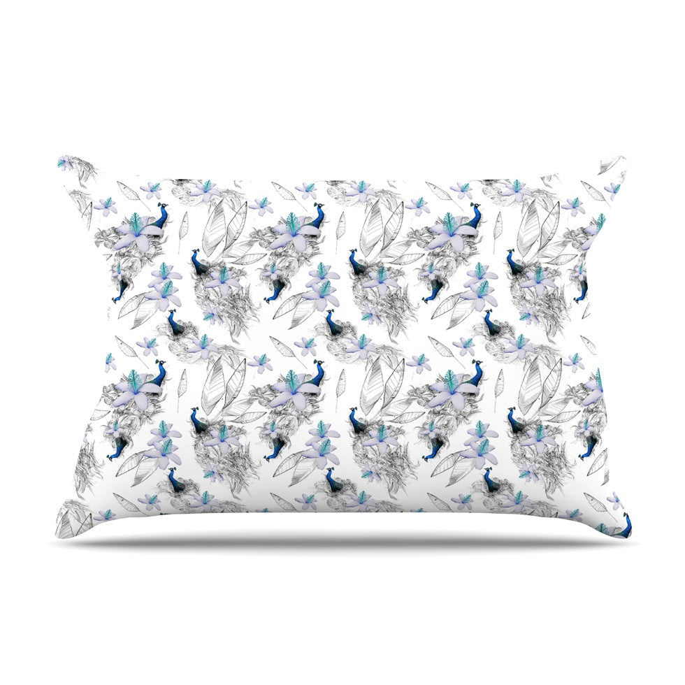 "Danii Pollehn ""Peacock Fun"" Animal Pattern Pillow Sham - KESS InHouse"