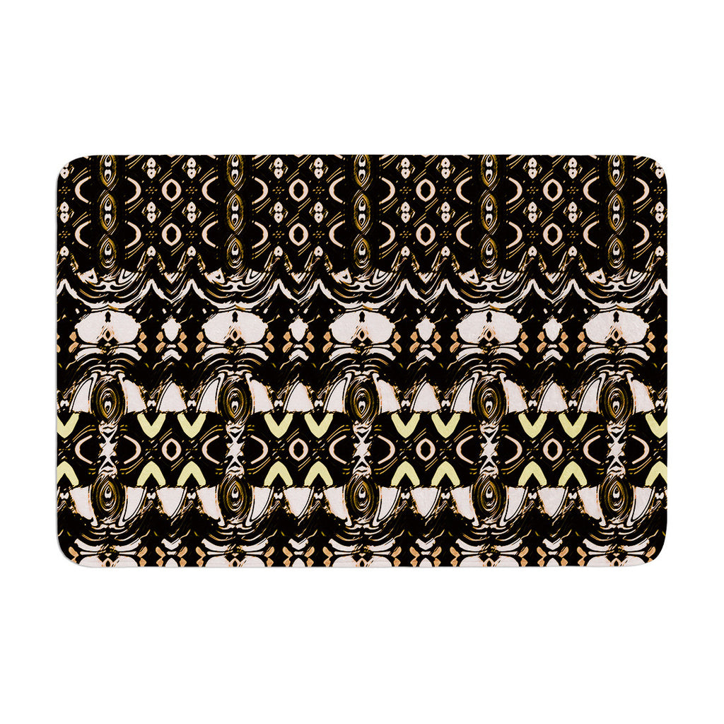 "Dawid Roc ""The Palace Walls"" Brown Black Memory Foam Bath Mat - KESS InHouse"