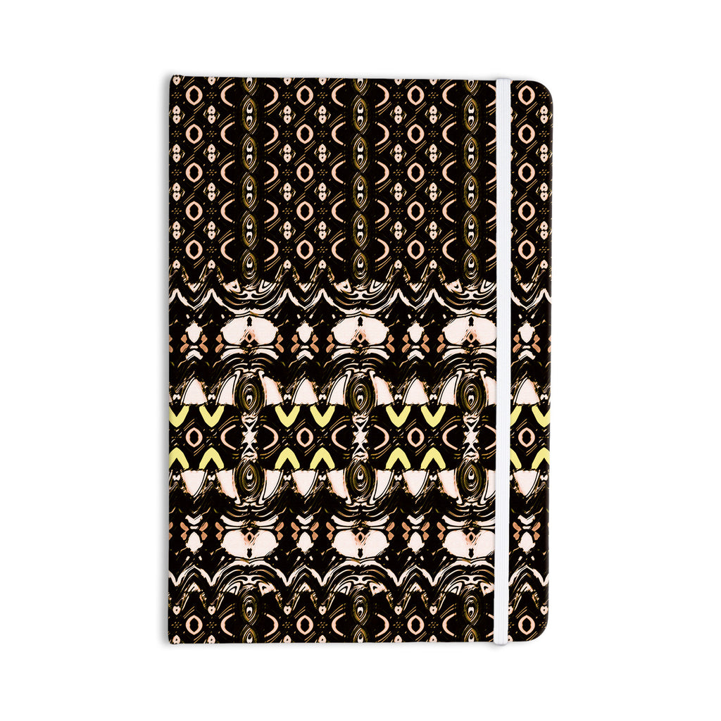 "Dawid Roc ""The Palace Walls"" Brown Black Everything Notebook - KESS InHouse  - 1"