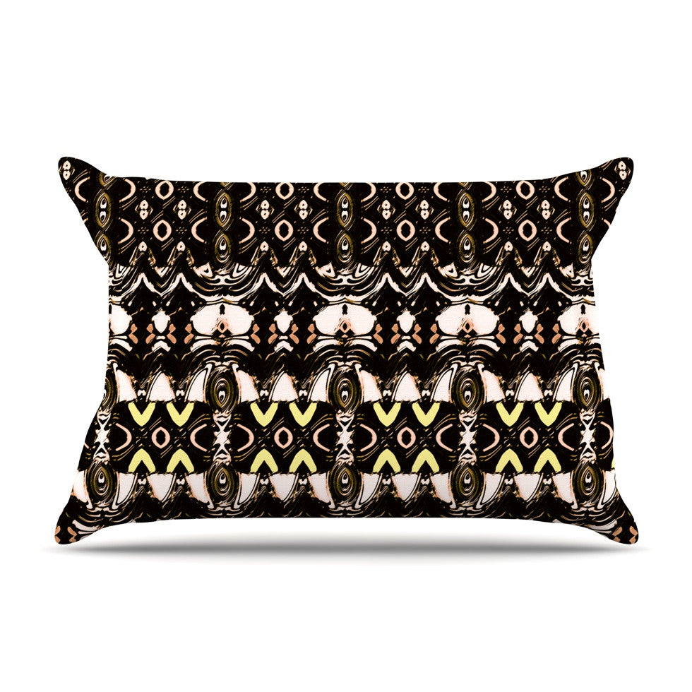 "Dawid Roc ""The Palace Walls"" Brown Black Pillow Sham - KESS InHouse"