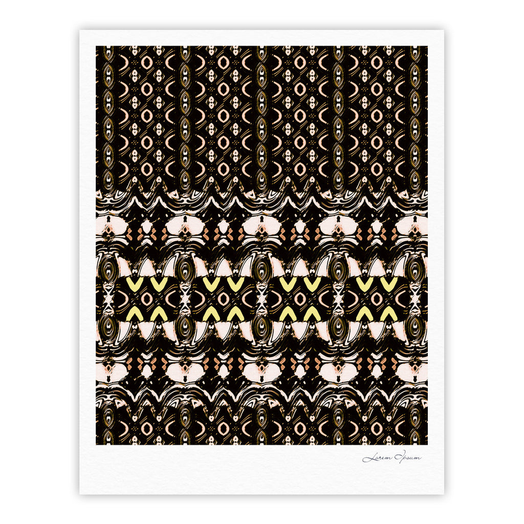 "Dawid Roc ""The Palace Walls"" Brown Black Fine Art Gallery Print - KESS InHouse"