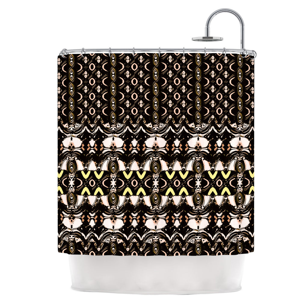 "Dawid Roc ""The Palace Walls"" Brown Black Shower Curtain - KESS InHouse"