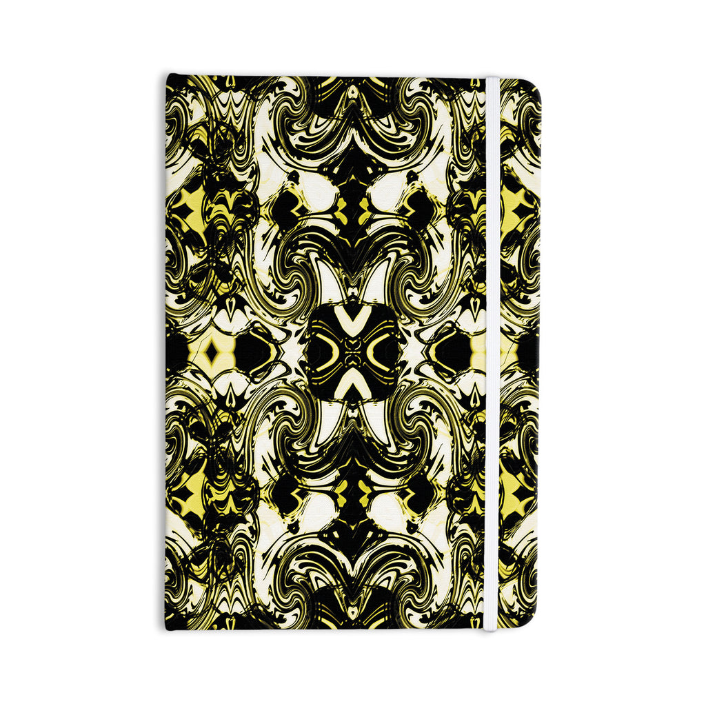 "Dawid Roc ""The Palace Walls II"" Yellow Black Everything Notebook - KESS InHouse  - 1"