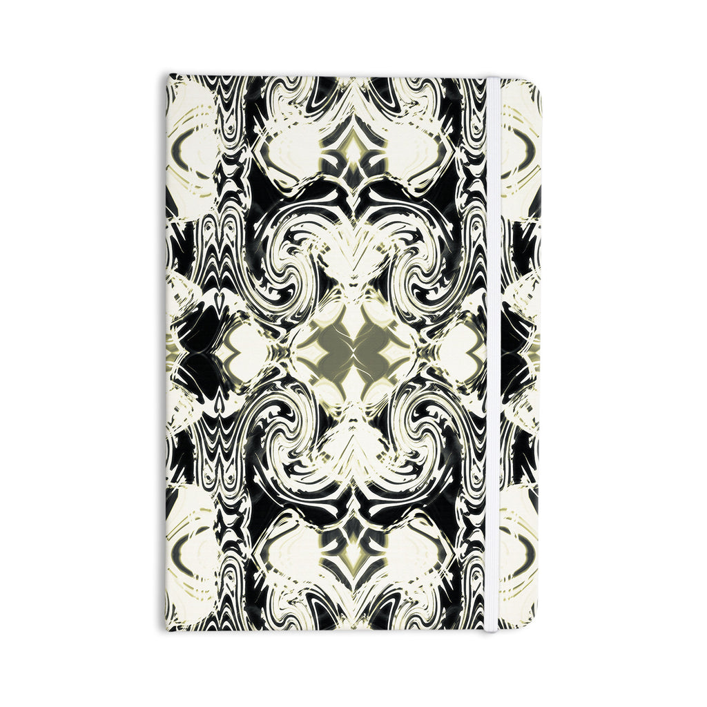 "Dawid Roc ""The Palace Walls III"" White Abstract Everything Notebook - KESS InHouse  - 1"