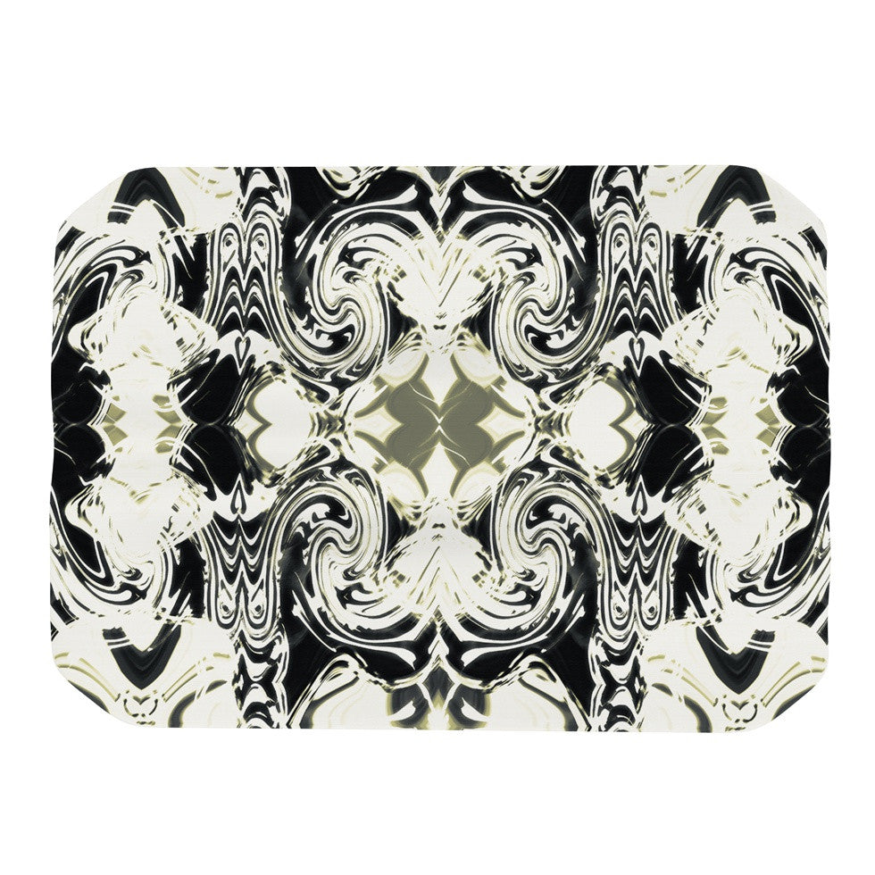 "Dawid Roc ""THe Palace Walls III"" White Abstract Place Mat - KESS InHouse"