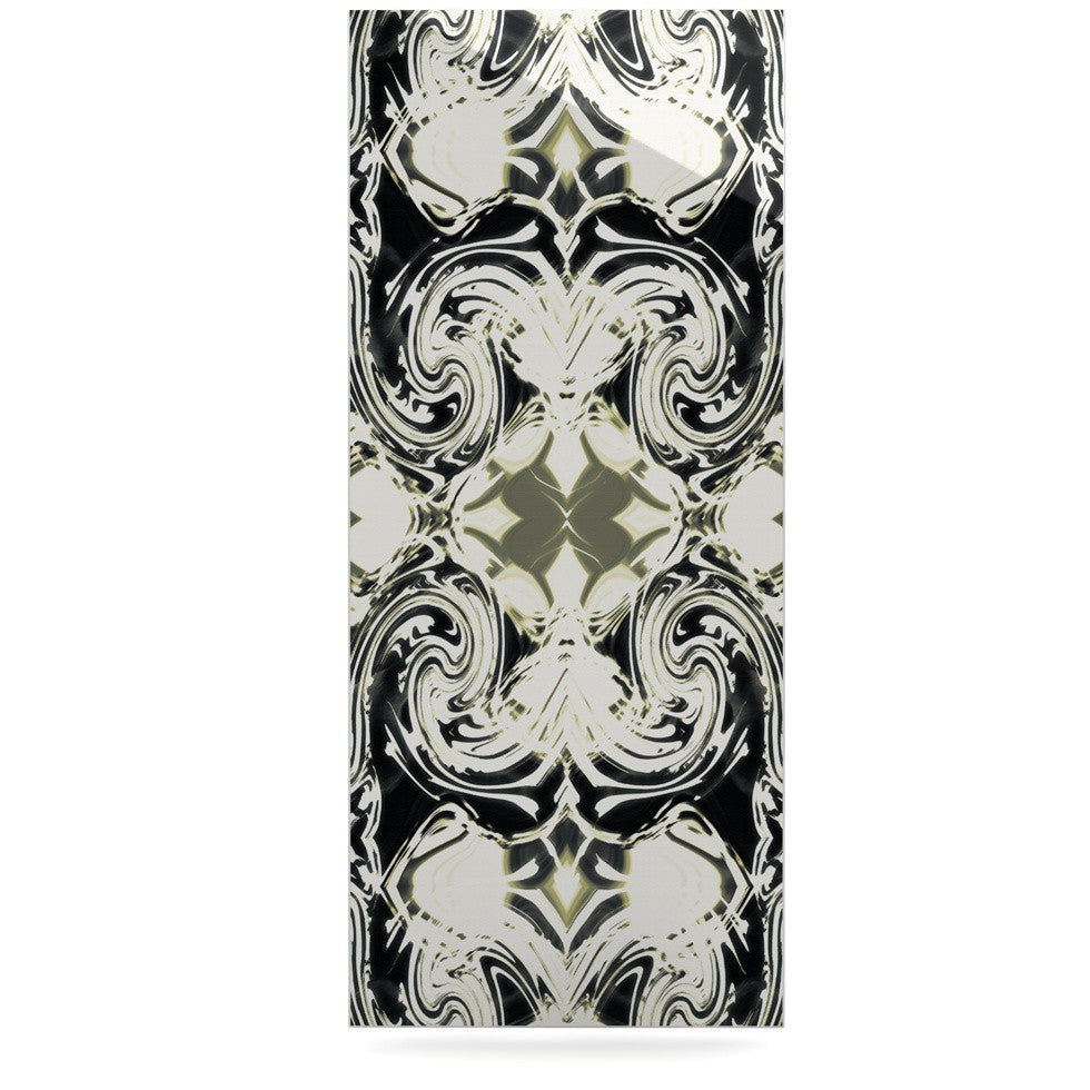 "Dawid Roc ""THe Palace Walls III"" White Abstract Luxe Rectangle Panel - KESS InHouse  - 1"