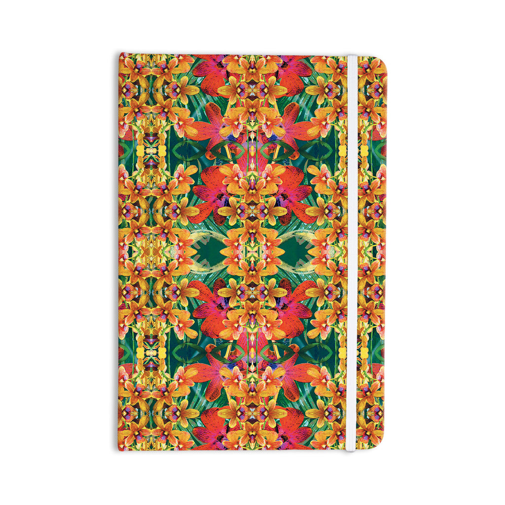 "Dawid Roc ""Tropical Floral"" Orange Pink Everything Notebook - KESS InHouse  - 1"