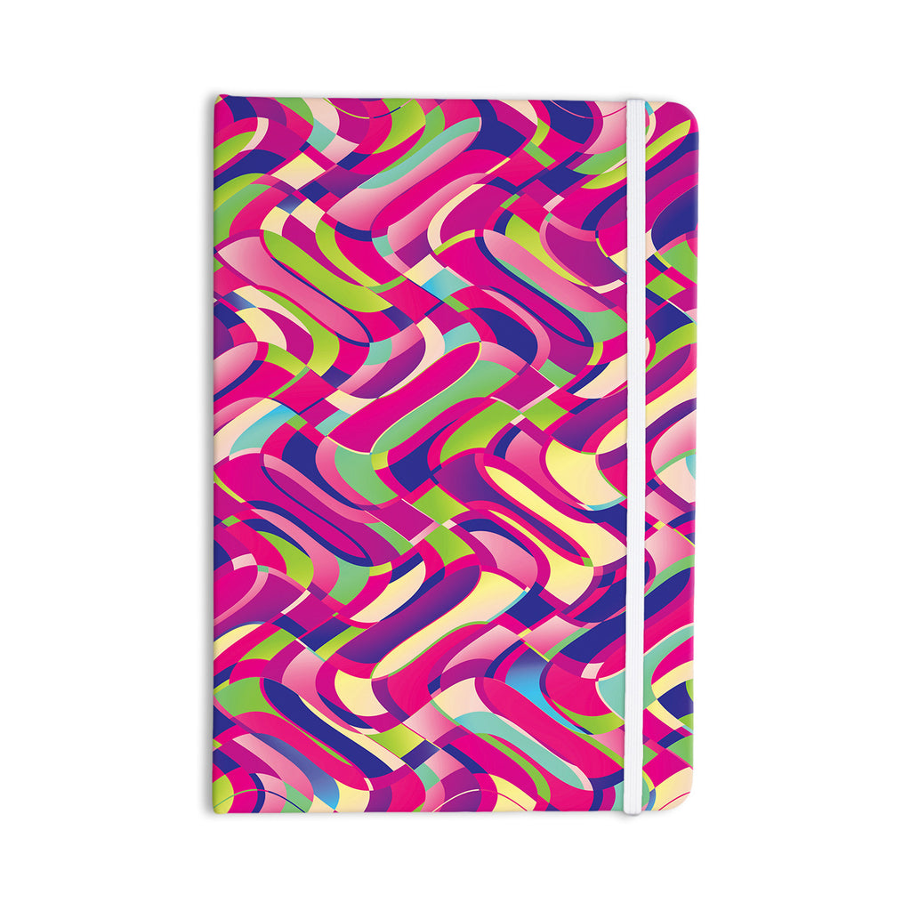 "Dawid Roc ""Colorful Movement"" Pink Abstract Everything Notebook - KESS InHouse  - 1"