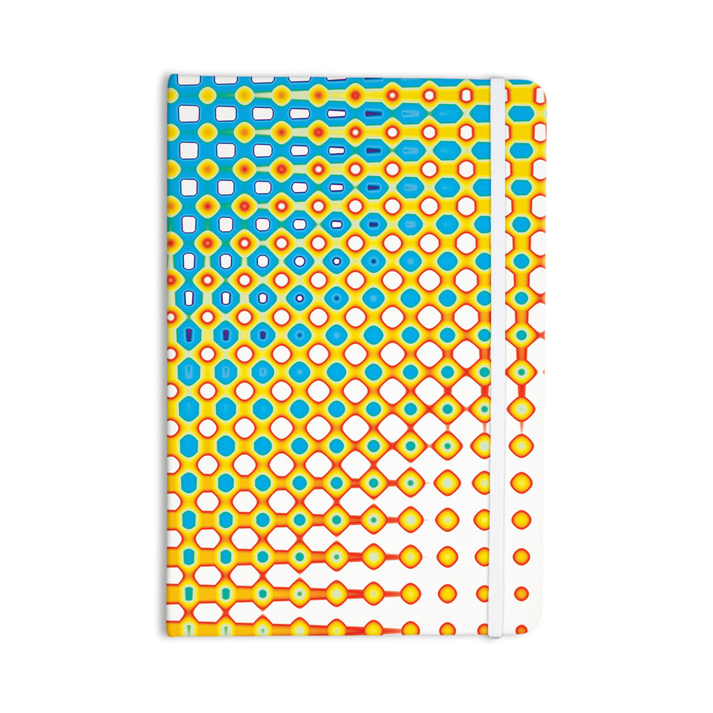 "Dawid Roc ""Psychedelic Art"" Yellow Blue Everything Notebook - KESS InHouse  - 1"