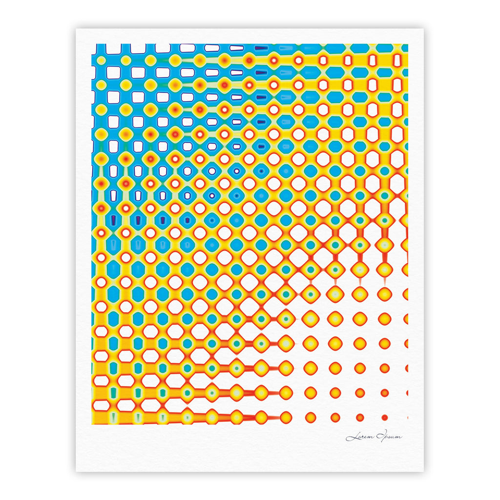 "Dawid Roc ""Psychedelic Art"" Yellow Blue Fine Art Gallery Print - KESS InHouse"