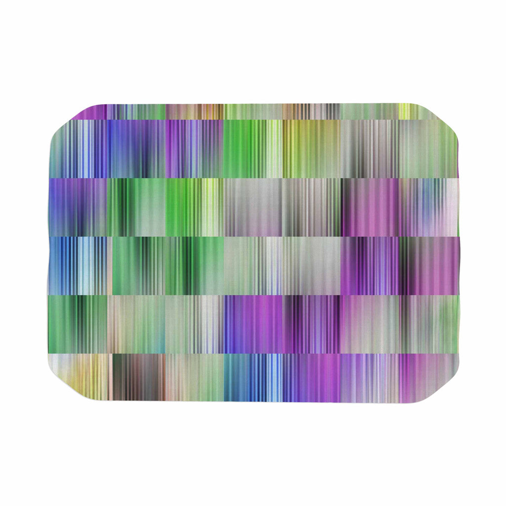 "Dawid Roc ""Sweet Pastel Lines 3"" Multicolor Magenta Place Mat - KESS InHouse"