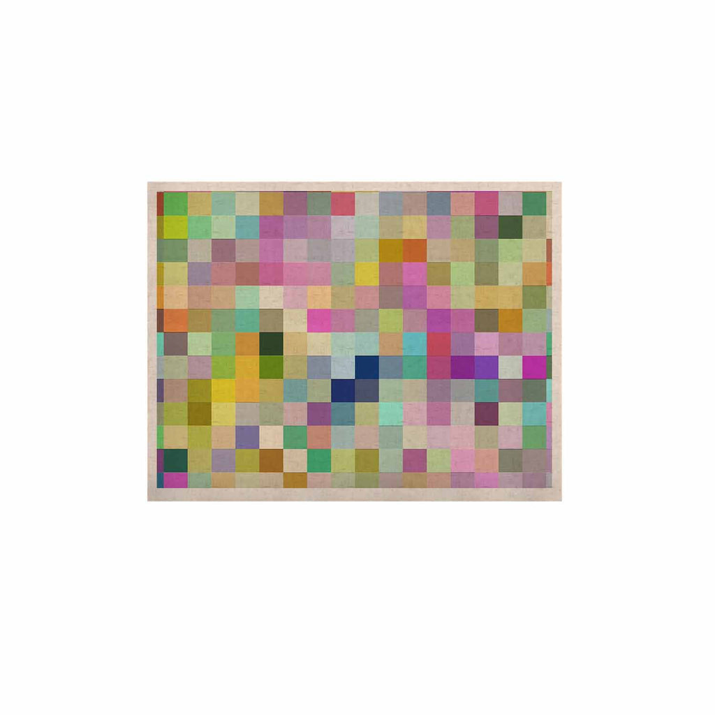 "Dawid Roc ""Colorful Pixels"" Multicolor Blue KESS Naturals Canvas (Frame not Included) - KESS InHouse  - 1"
