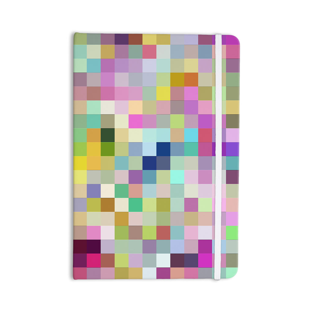 "Dawid Roc ""Colorful Pixels"" Multicolor Blue Everything Notebook - KESS InHouse  - 1"