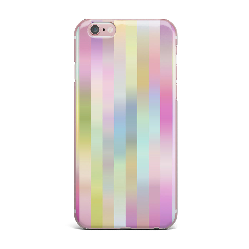 "Dawid Roc ""Sweet Pastel Lines 1"" Green Pink iPhone Case - KESS InHouse"