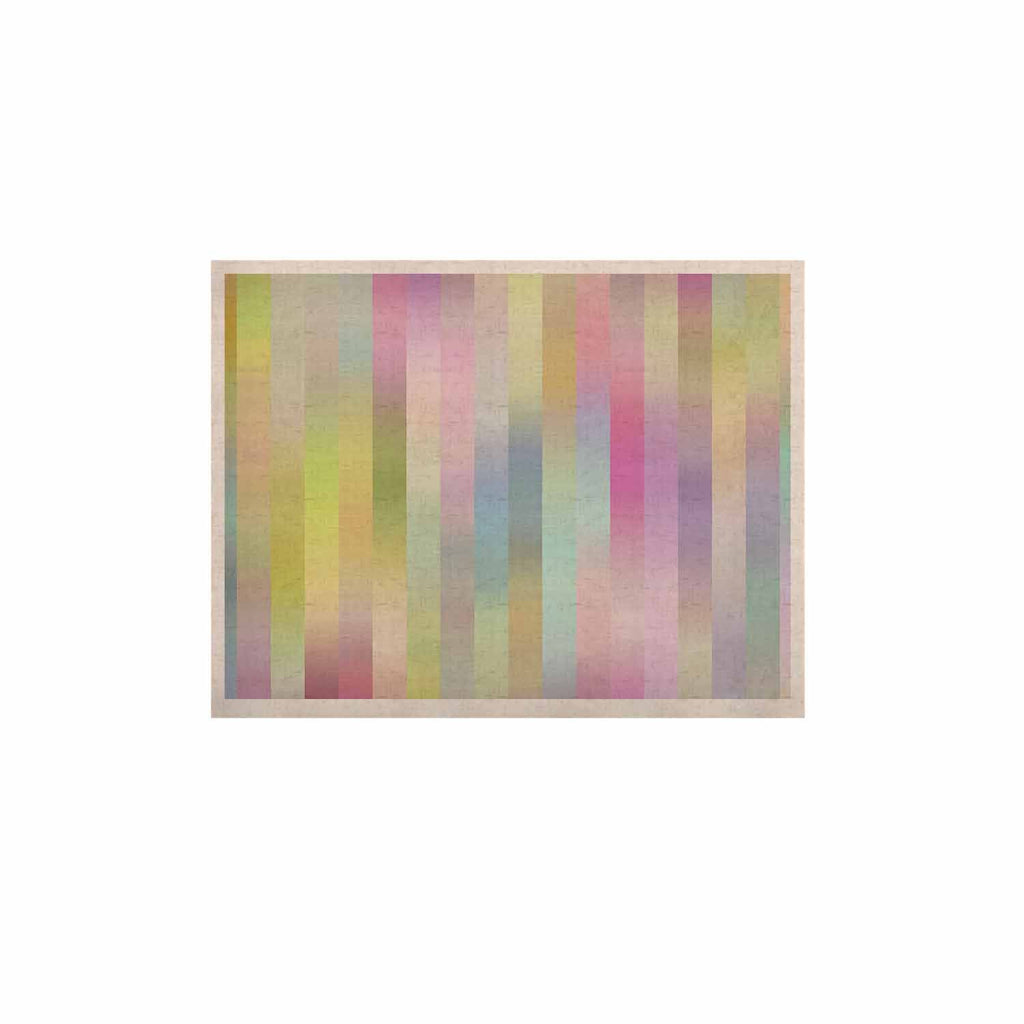 "Dawid Roc ""Sweet Pastel Lines 1"" Green Pink KESS Naturals Canvas (Frame not Included) - KESS InHouse  - 1"