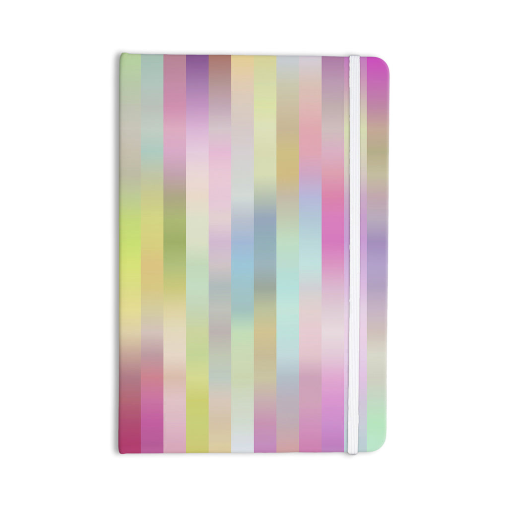 "Dawid Roc ""Sweet Pastel Lines 1"" Green Pink Everything Notebook - KESS InHouse  - 1"