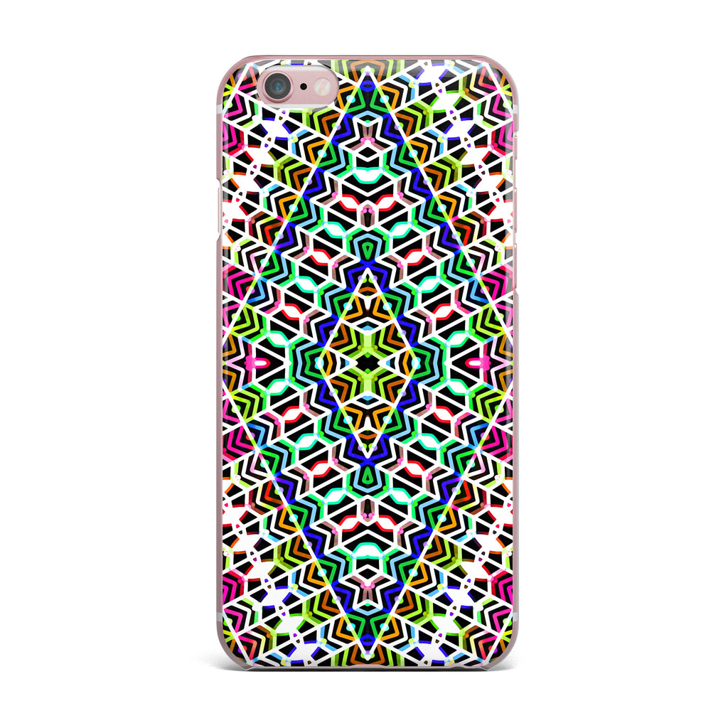 "Dawid Roc ""Colorful Tribal Pattern"" Multicolor Blue iPhone Case - KESS InHouse"