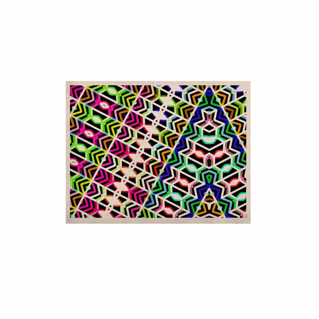 "Dawid Roc ""Colorful Tribal Pattern"" Multicolor Blue KESS Naturals Canvas (Frame not Included) - KESS InHouse  - 1"