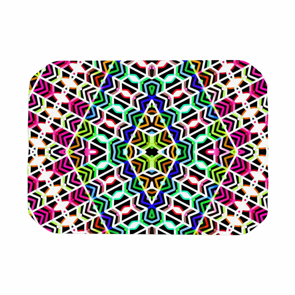 "Dawid Roc ""Colorful Tribal Pattern"" Multicolor Blue Place Mat - KESS InHouse"