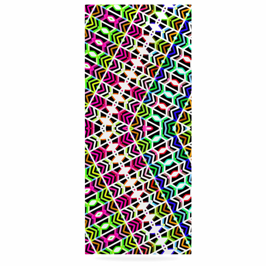 "Dawid Roc ""Colorful Tribal Pattern"" Multicolor Blue Luxe Rectangle Panel - KESS InHouse  - 1"
