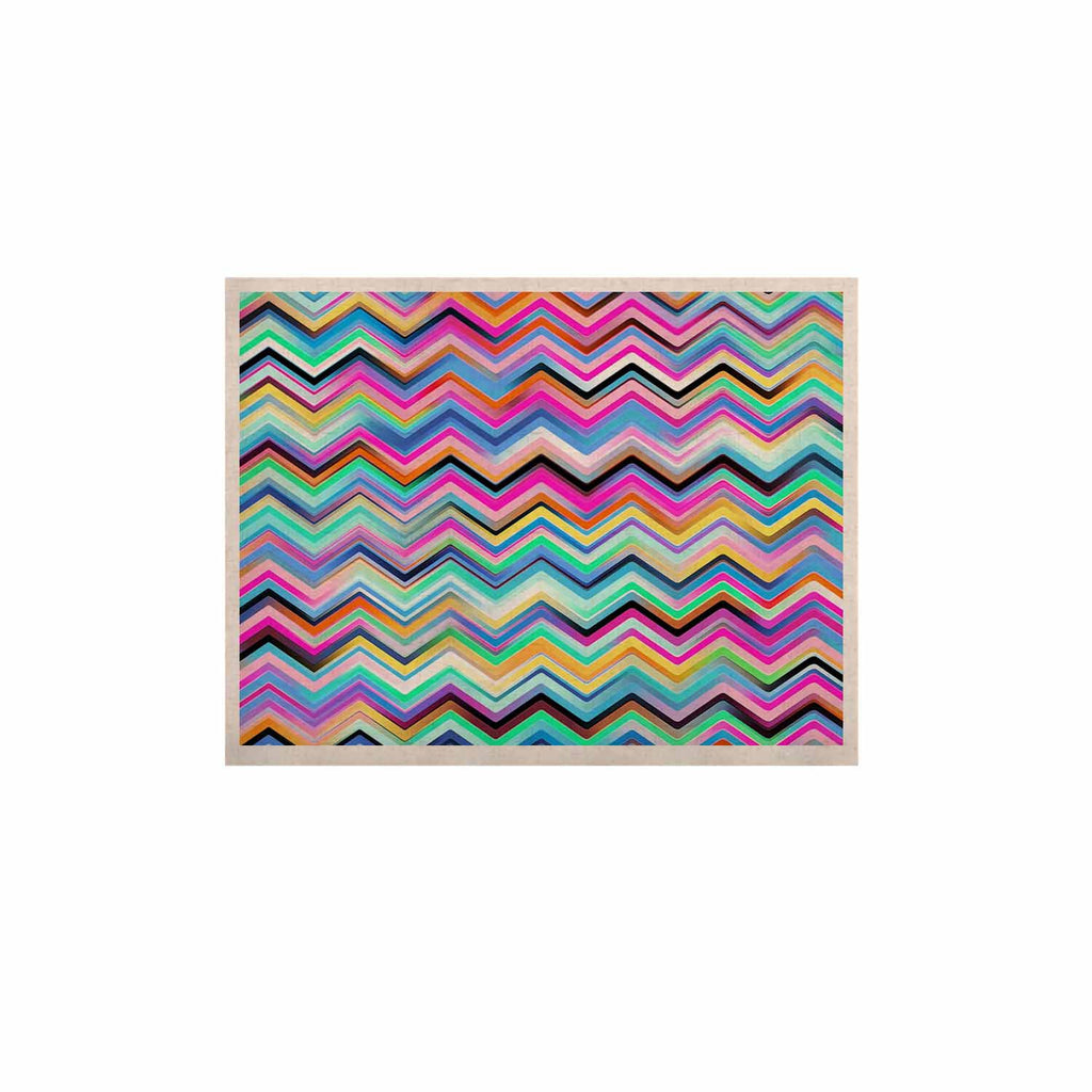 "Dawid Roc ""Colorful Rainbow Chevron"" Multicolor Blue KESS Naturals Canvas (Frame not Included) - KESS InHouse  - 1"